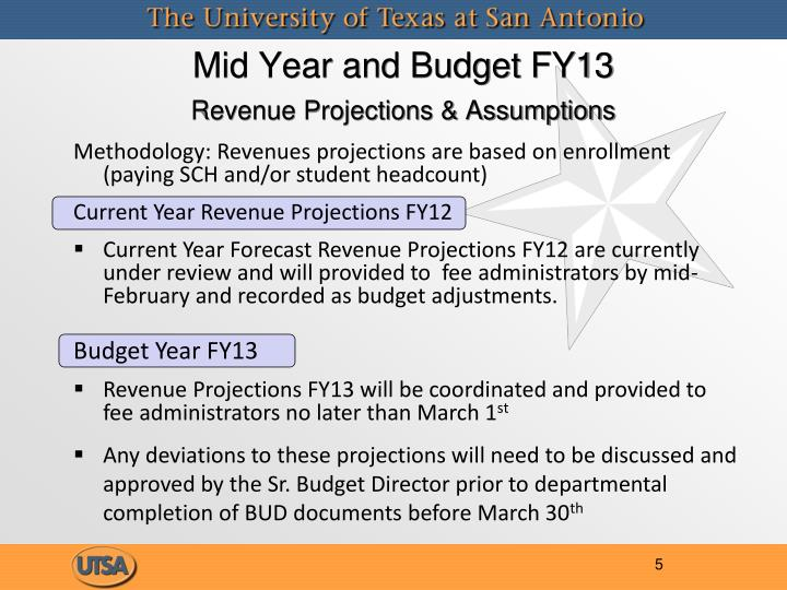 Mid Year and Budget FY13