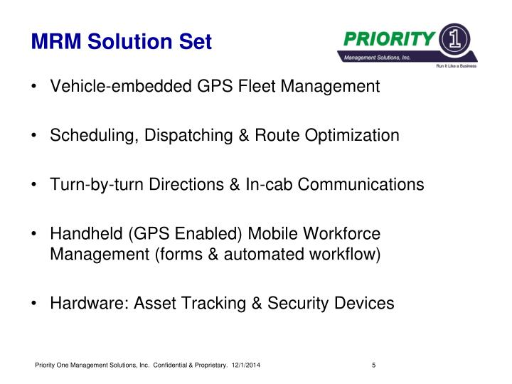 MRM Solution Set