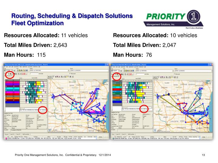 Routing, Scheduling & Dispatch Solutions