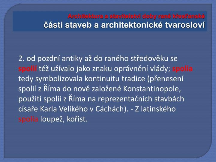 Architektura a stavitelství doby raně křesťanské