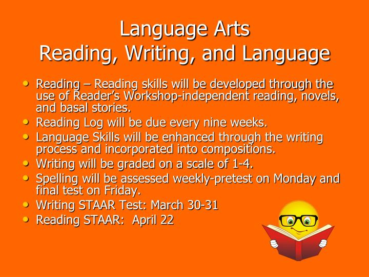 Language arts reading writing and language