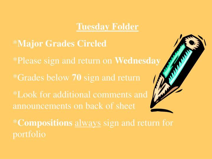 Tuesday Folder