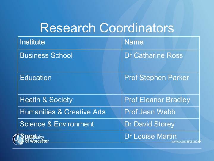 Research Coordinators
