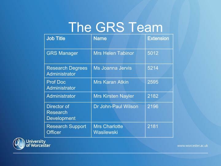 The GRS Team