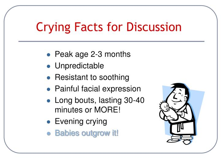 Crying Facts for Discussion