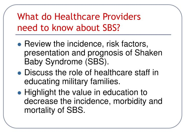 What do Healthcare Providers