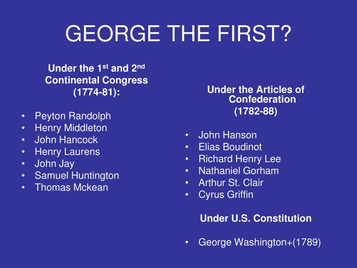 George the first