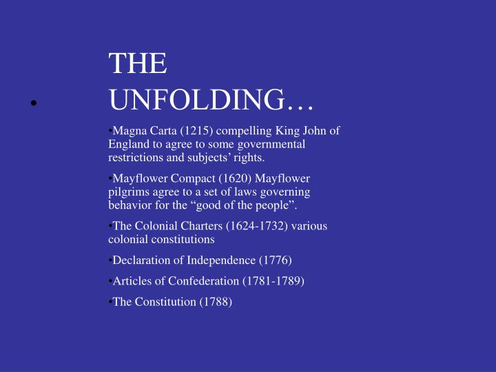 THE  UNFOLDING…