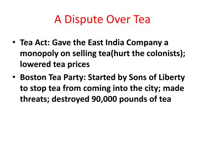 A Dispute Over Tea