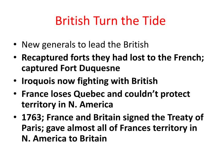 British Turn the Tide