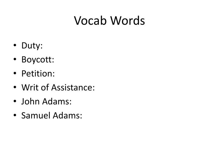 Vocab Words