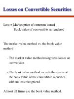 losses on convertible securities