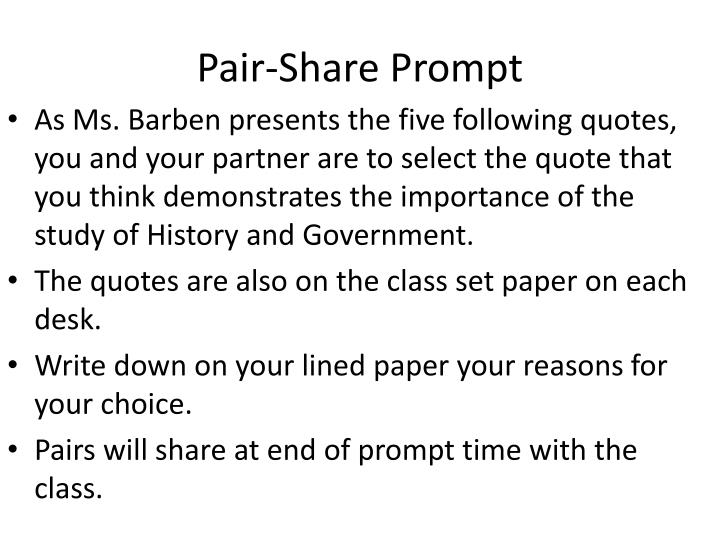 Pair-Share Prompt