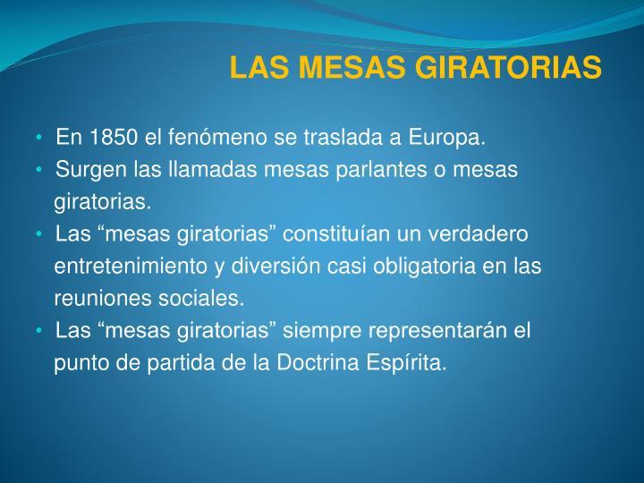 LAS MESAS GIRATORIAS