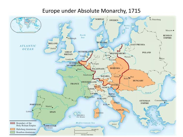 Europe under Absolute Monarchy, 1715