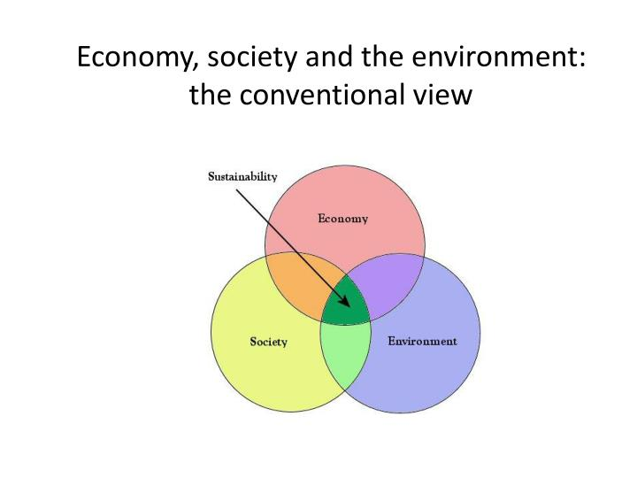 Economy, society and the environment: the conventional view