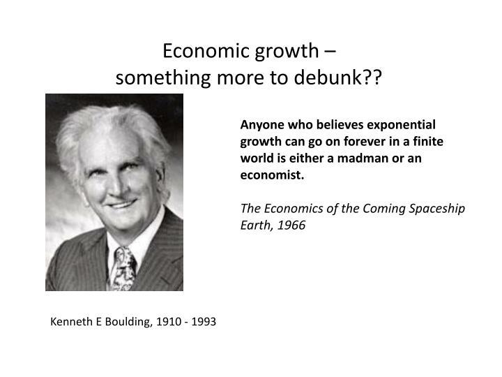 Economic growth –