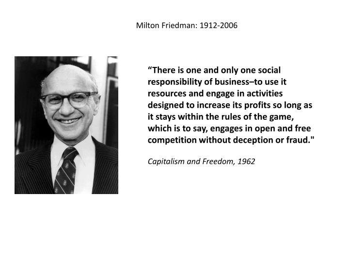 Milton Friedman: 1912-2006