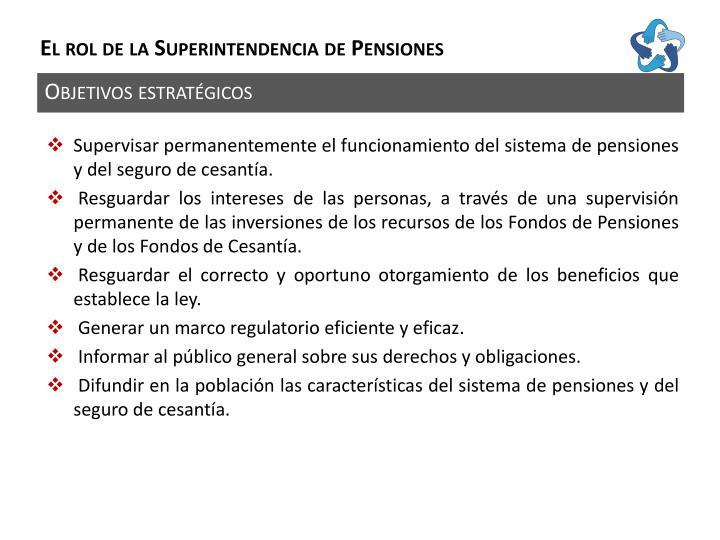 El rol de la Superintendencia de Pensiones
