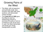 growing pains of the west1