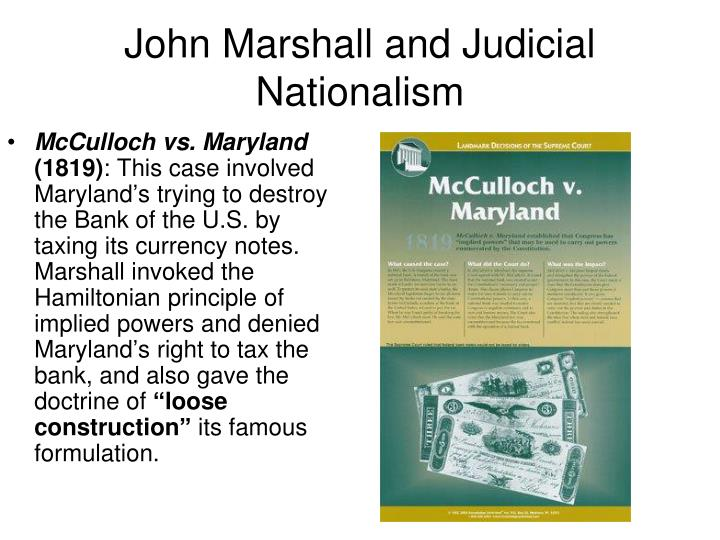 John Marshall and Judicial Nationalism