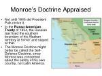 monroe s doctrine appraised1