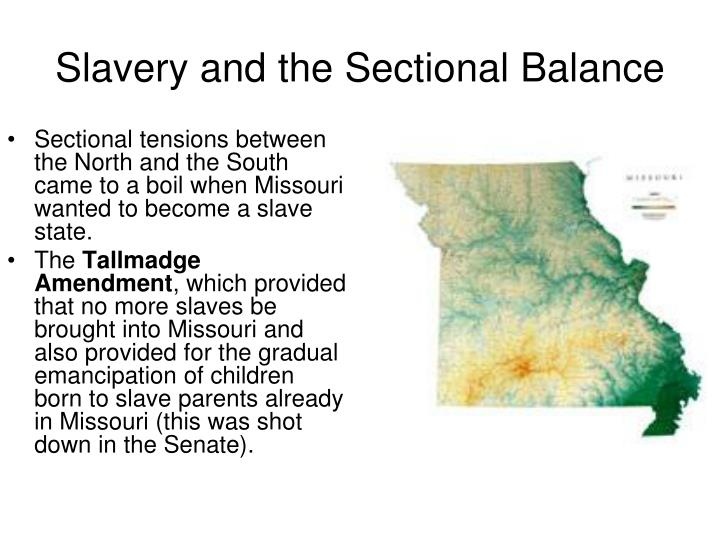 Slavery and the Sectional Balance