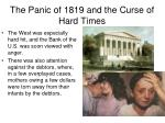 the panic of 1819 and the curse of hard times1