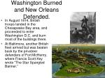 washington burned and new orleans defended