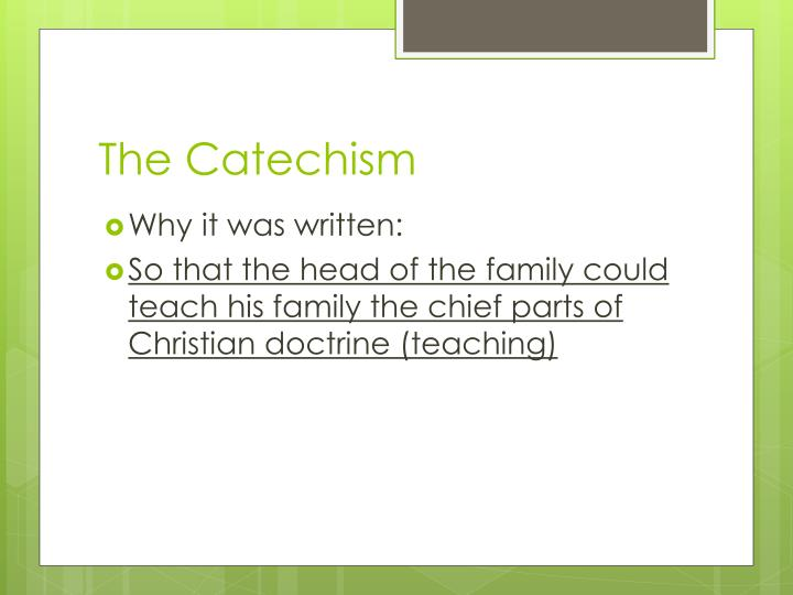 The Catechism