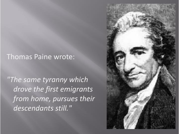 Thomas Paine wrote: