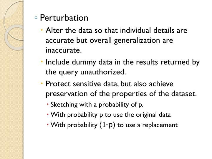 Perturbation