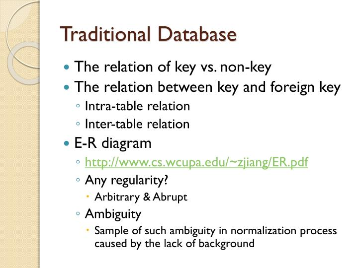 Traditional Database