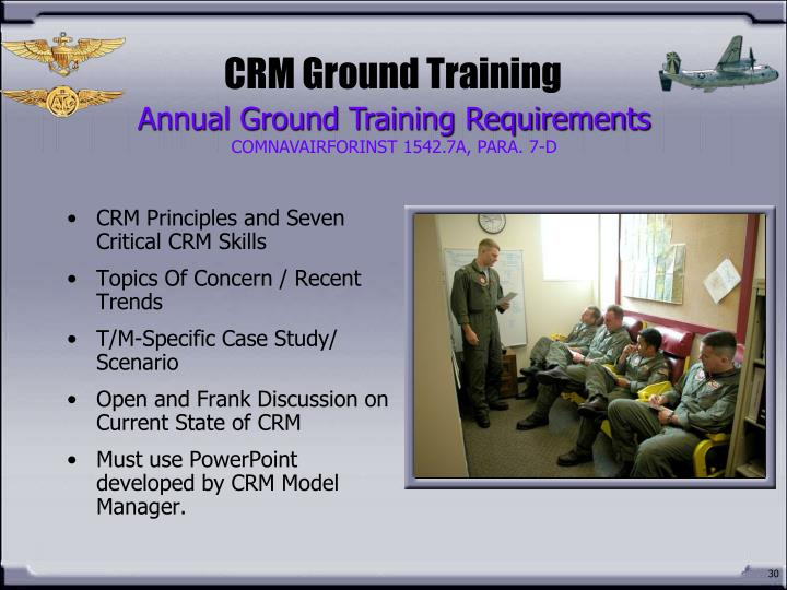 CRM Ground Training