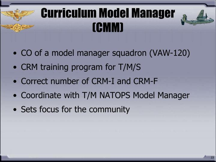 Curriculum Model Manager (CMM)