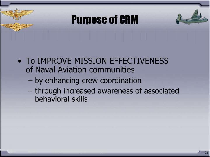 Purpose of CRM