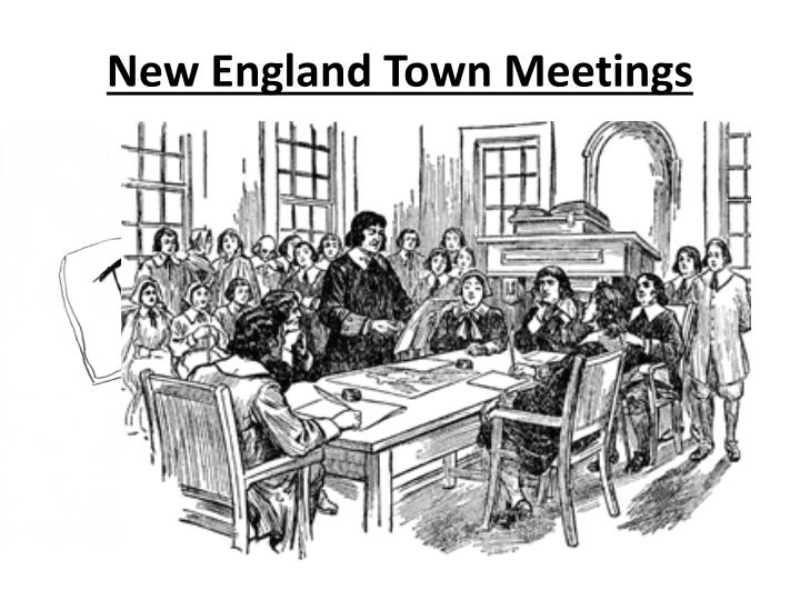 New England Town Meetings