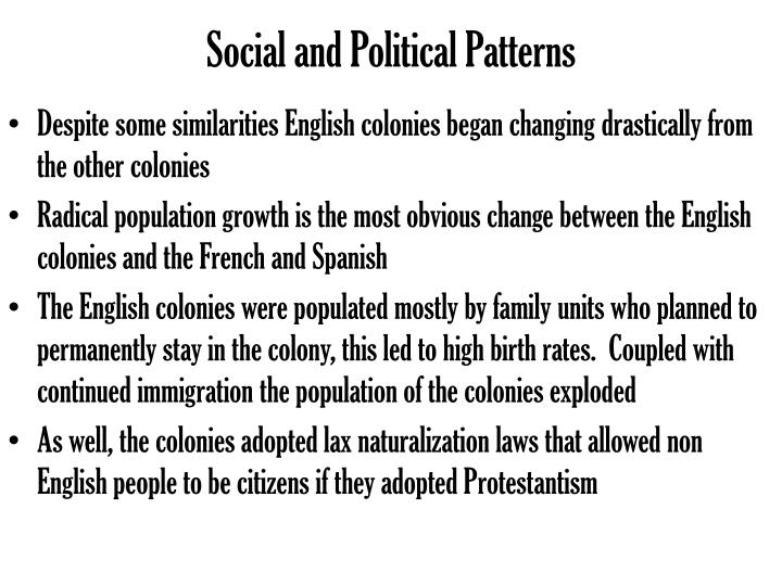 Social and Political Patterns