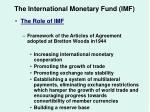 the international monetary fund imf