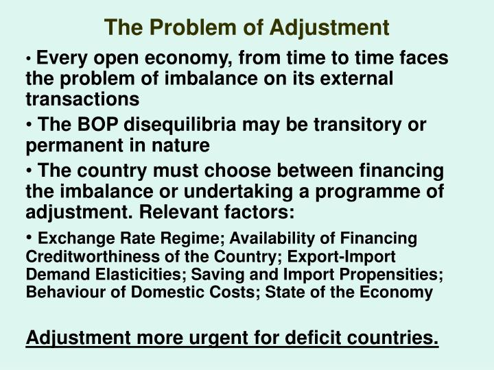 The Problem of Adjustment