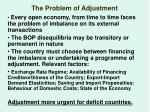 the problem of adjustment