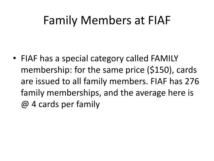 Family Members at FIAF