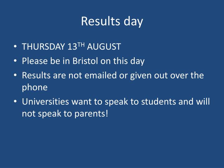 Results day