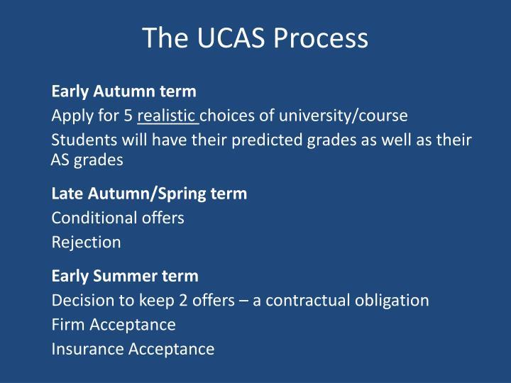 The UCAS Process
