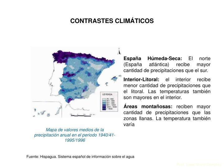 CONTRASTES CLIMÁTICOS