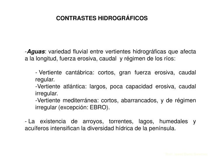 CONTRASTES HIDROGRÁFICOS