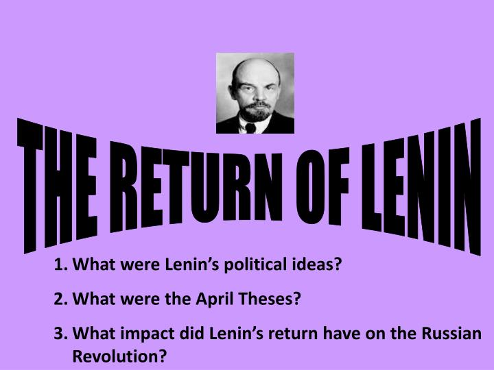 the april theses lenin summary