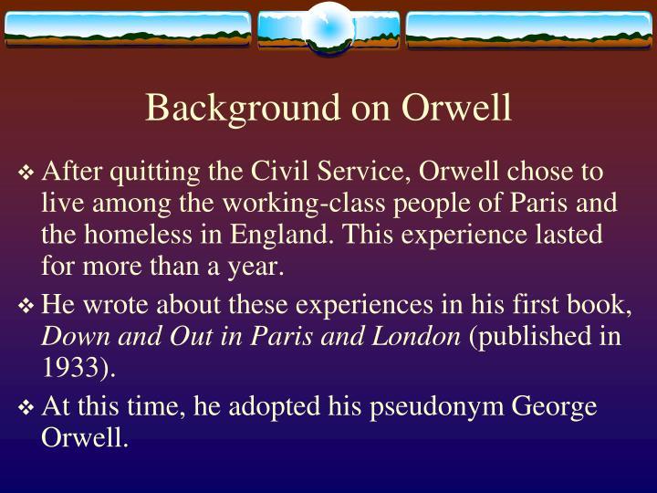 george orwell background information