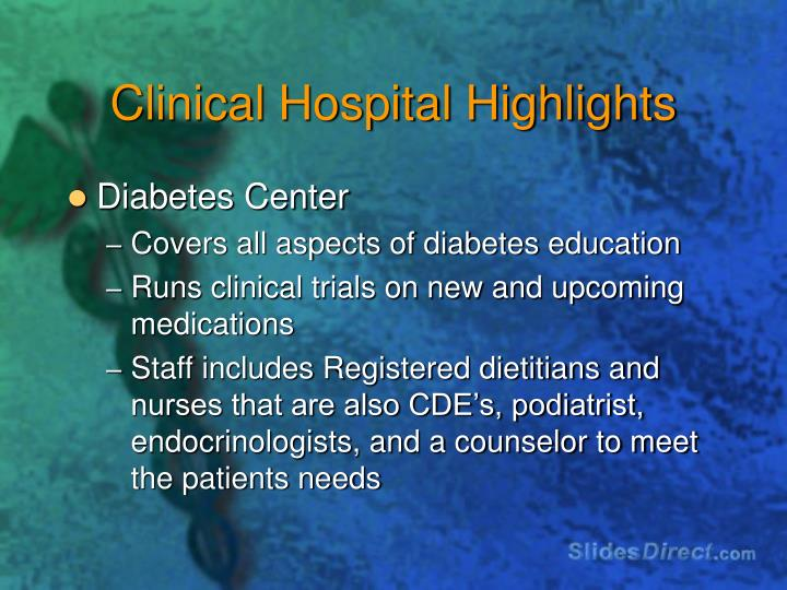 Clinical Hospital Highlights