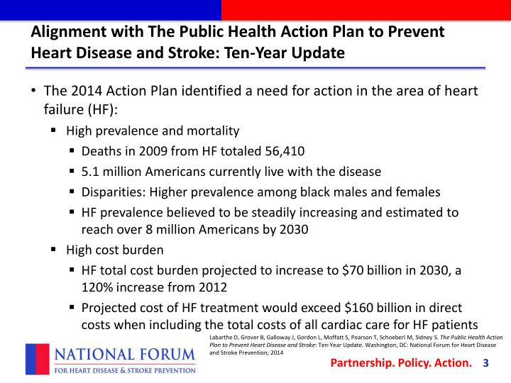 Alignment with the public health action plan to prevent heart disease and stroke ten year update